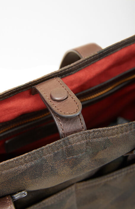 Business bag in military nylon with leather details , Officina Slowear | Slowear