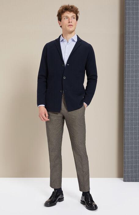 Slim-fit beige cashmere touch trousers , Incotex - Venezia 1951 | Slowear