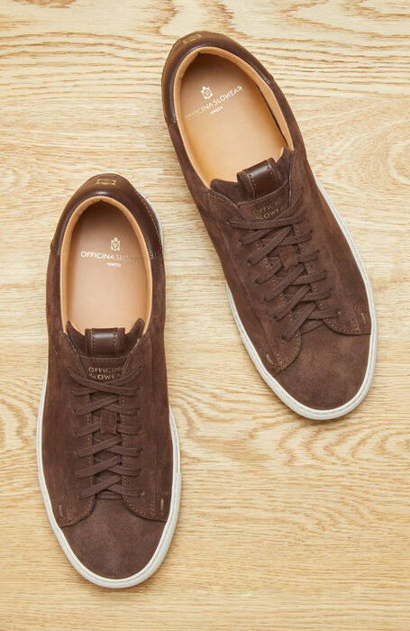 Trainers in suede leather with leather details , Officina Slowear | Slowear