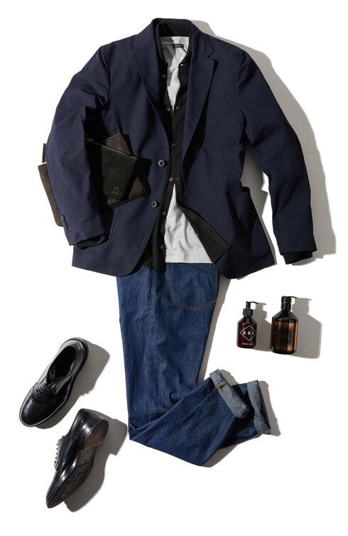 Slim-fit five-pocket denim cotton trousers , Indigochino   Slowear