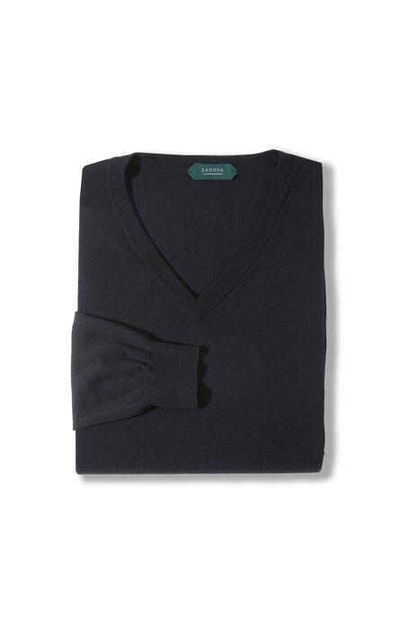 White Flexwool V-neck sweater , Zanone | Slowear