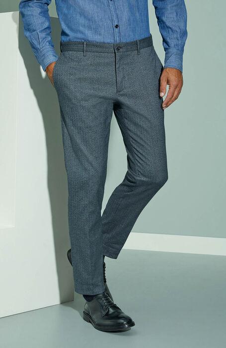 Slim fit blue cloud cotton stretch trousers , Incotex - Venezia 1951 | Slowear