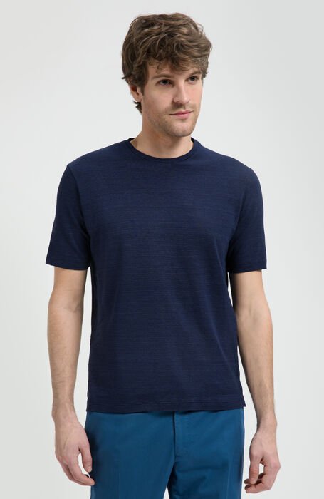 T-shirt Manica Corta in Jersey Rigato , Zanone | Slowear