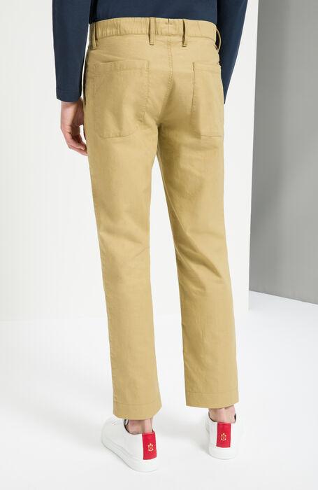 Walnut Slim Fit Woven Cotton Trousers , Incotex - Slacks | Slowear