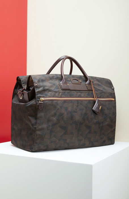 Travel bag in military nylon and leather details , Felisi | Slowear