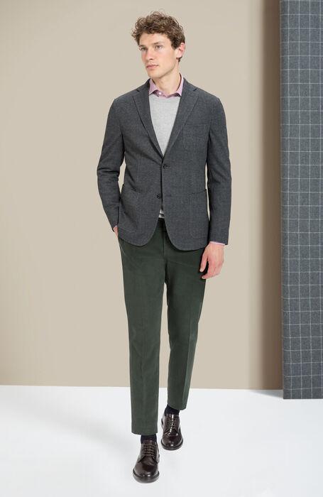 Girocollo in lana e cashmere grigio chiaro melange , Zanone | Slowear