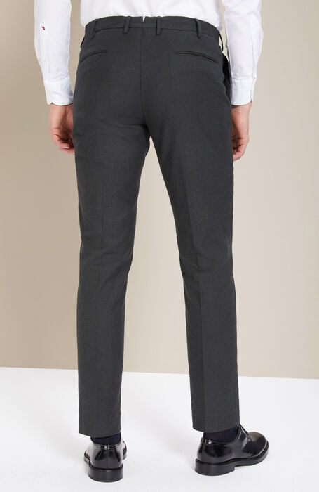 Slim-fit green cashmere touch trousers , Incotex - Venezia 1951 | Slowear