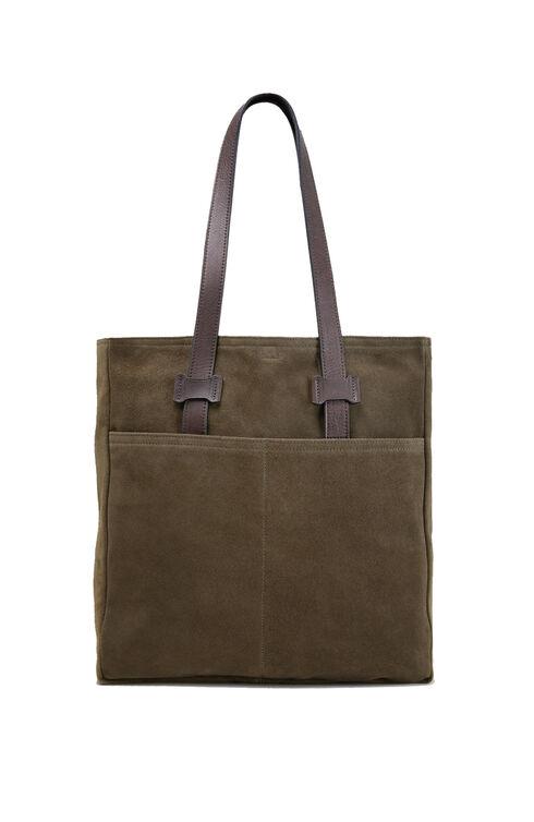 Suede business bag , Officina Slowear | Slowear