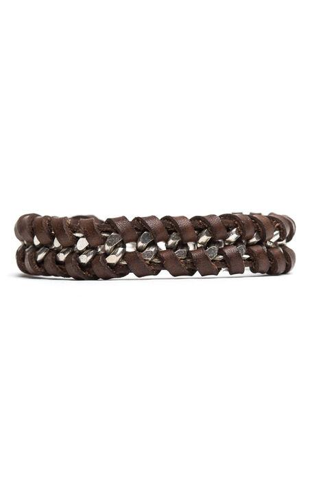 Chain + Braided Leather Bracelet , Officina Slowear | Slowear