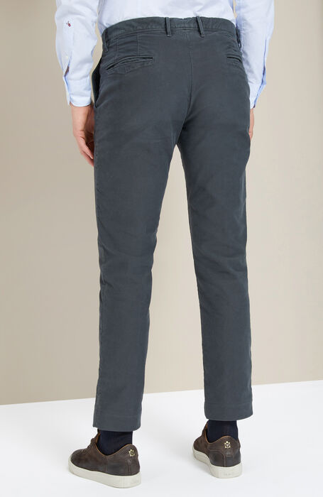 Slim-fit anthracite grey stretch Tricochino trousers , Incotex - Slacks | Slowear