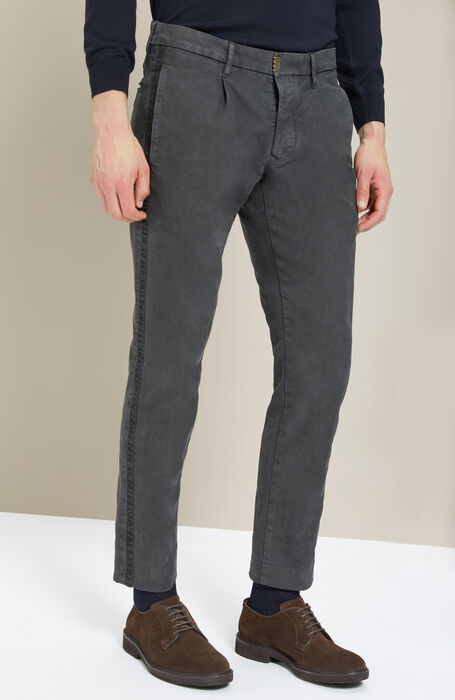 Anthracite Grey Slim Fit Stretch Cotton Trousers