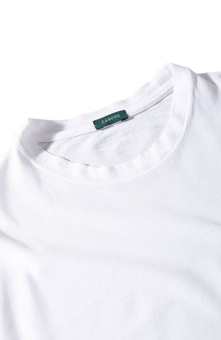 White long-sleeved Ice Cotton T-shirt , Zanone | Slowear