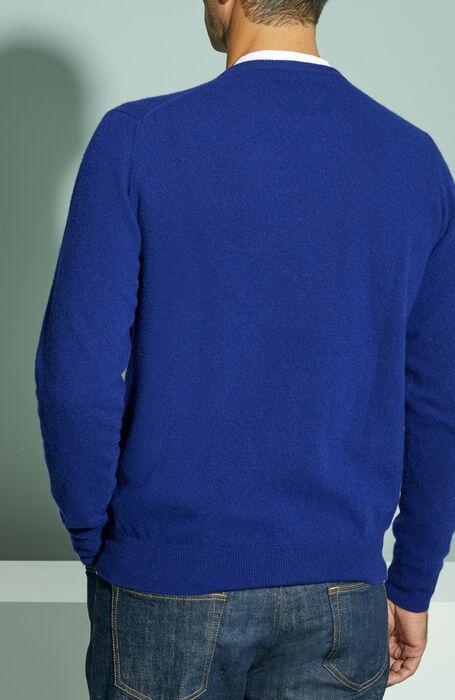 Cornflower blue wool and cashmere crewneck sweater , Zanone | Slowear