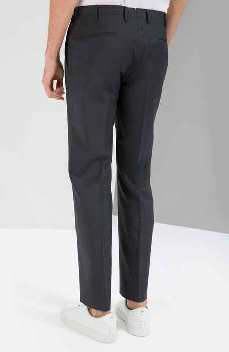 Slim Fit Trousers in Lightweight Anthracite Grey Wool , Incotex - Venezia 1951 | Slowear