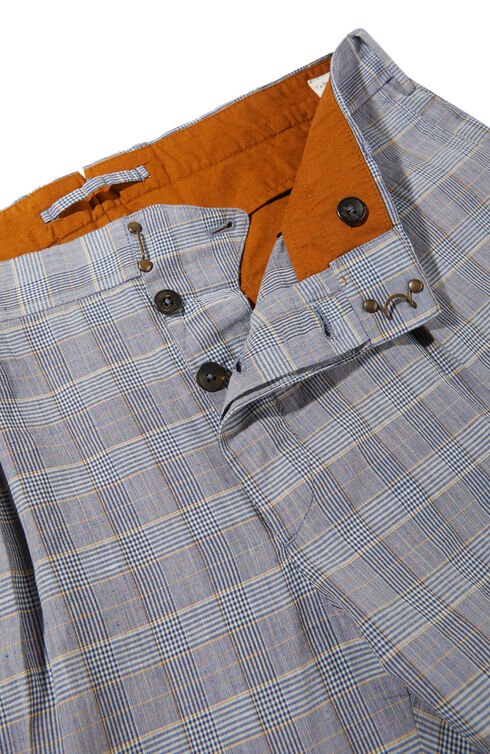 Tapered-fit cotton and linen check pattern trousers , Incotex - Verve   Slowear