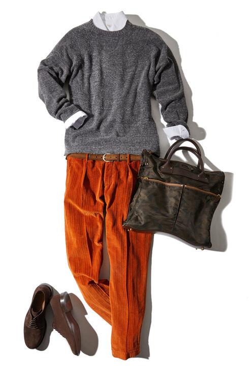 Tapered fit fancy corduroy trousers , Incotex - Verve | Slowear