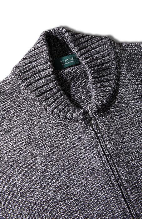 Grey merino wool zipped bomber sweater , Zanone | Slowear