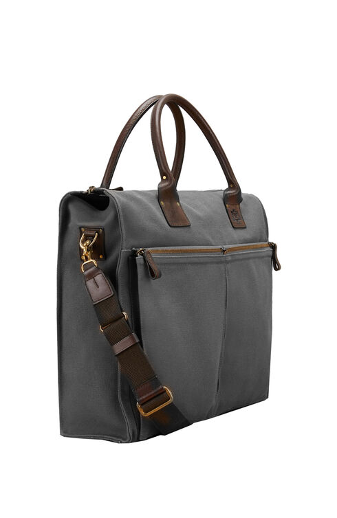 Business bag in cotton and leather , Officina Slowear | Slowear