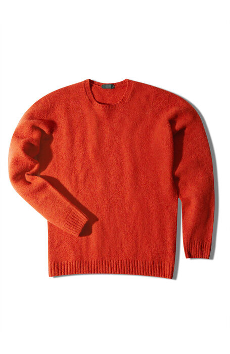 Orange lambswool crewneck sweater , Zanone | Slowear