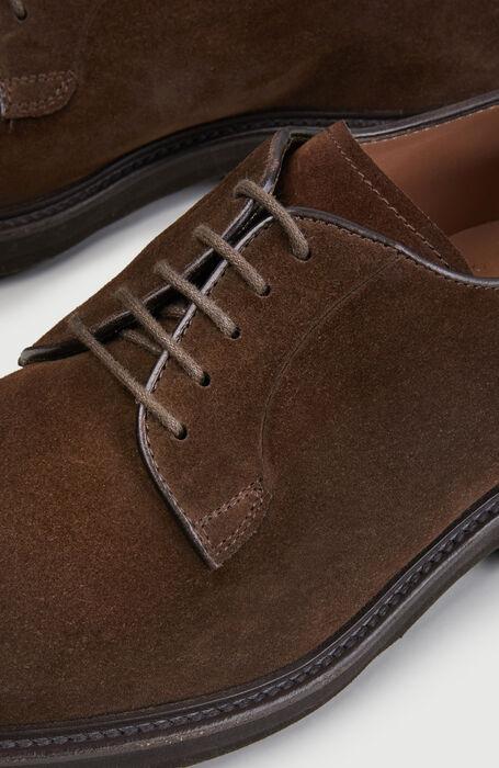 Derby shoe in suede calfskin , Officina Slowear | Slowear