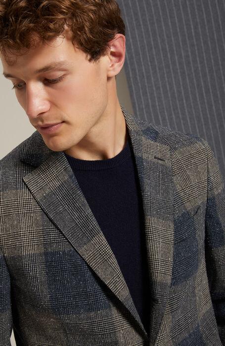Single-breasted unlined jacket in herringbone wool , Montedoro | Slowear