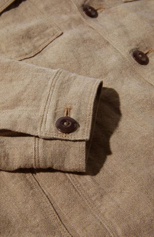 Semi-lined linen jacket , Montedoro | Slowear