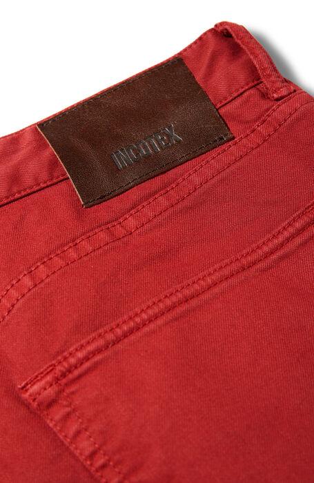 Slim fit five-pocket red cotton bull pants , Incotex - Cinque Tasche | Slowear