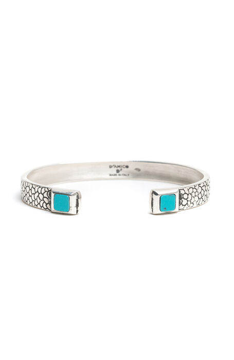Rigid bracelet with turquoise details , Emporio Slowear | Slowear