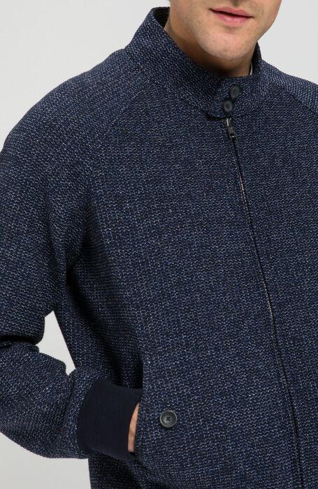 Technical Bomber in knit stitch Melange , Zanone | Slowear