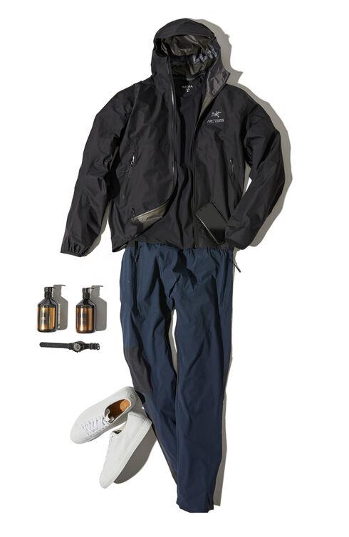 Zeta FL Black waterproof jacket with hood  , Arc'teryx | Slowear