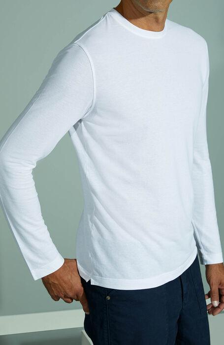 White long-sleeved Ice Cotton T-shirt , ZANONE Icecotton | Slowear