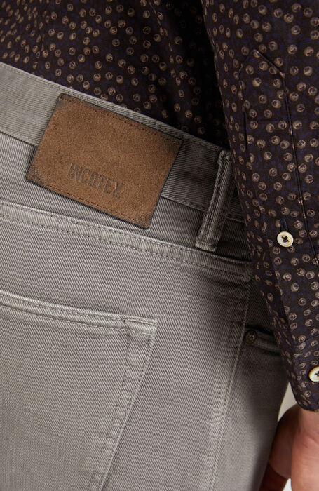 Grey slim-fit trousers in cotton bull , Incotex - Cinque Tasche | Slowear