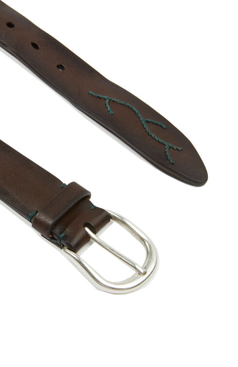 Embroidered calfskin belt , Officina Slowear | Slowear