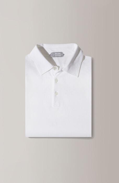 White short-sleeved IceCotton polo shirt , Zanone | Slowear