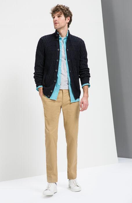 Beige Slim Fit Stretch Cotton Trousers , Incotex - Slacks | Slowear