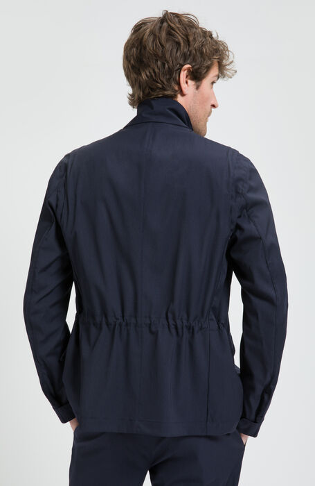 Giacca Solex Tecnica in Tonic Wool Blu , Montedoro | Slowear