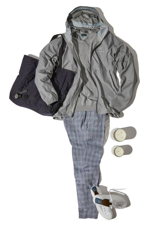Zeta FL Waterproof jacket with hood light grey , Arc'teryx   Slowear