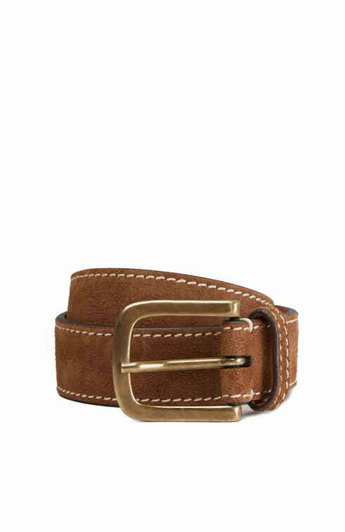 Suede belt with contrast stitching , Officina Slowear | Slowear
