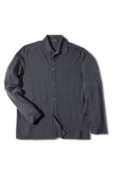 Grey Flexwool shirt , Zanone | Slowear