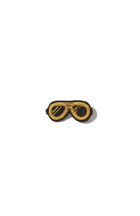 Embroidered sunglasses-motif brooch , Macon&Lesquoy | Slowear