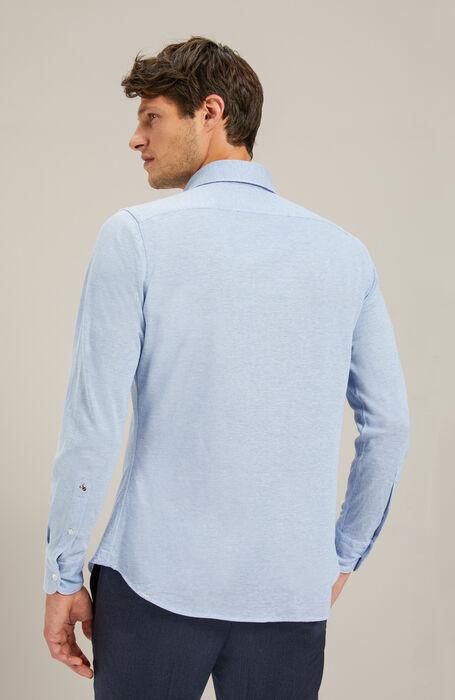 Camicia slim fit collo francese in jersey piquet , Glanshirt | Slowear