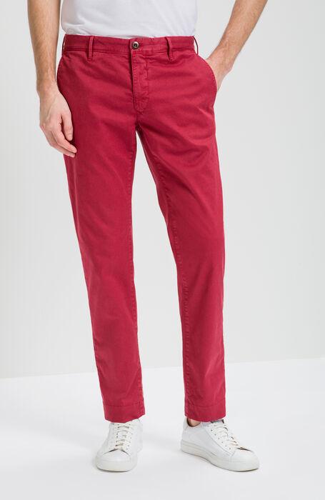 Pantalone Slim Fit in Cotone Stretch Rosso , Incotex - Slacks | Slowear