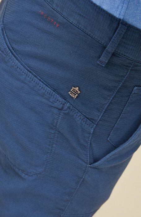 Blue cropped fit stretch cotton trousers , Incotex - Slacks | Slowear