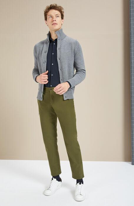 Merino wool grey Chioto cardigan , Zanone | Slowear