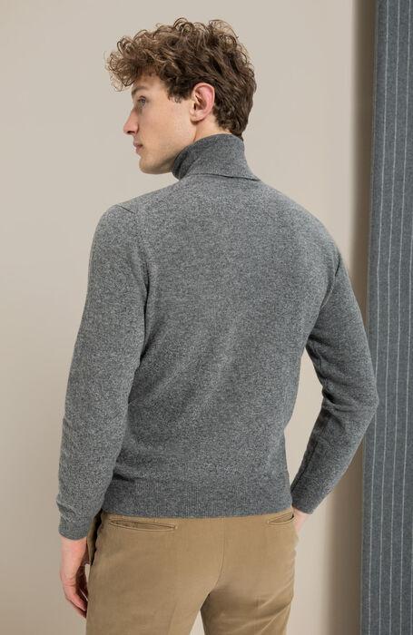 Medium grey wool and cashmere turtleneck , Zanone | Slowear
