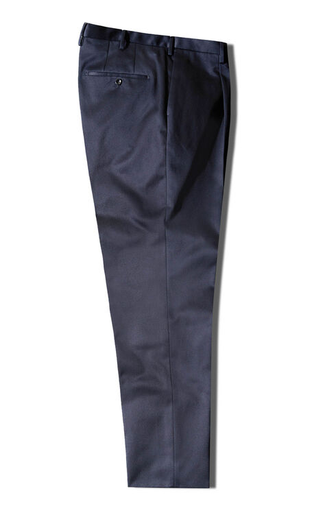 Carrot fit blue cotton twill trousers , Incotex - Venezia 1951   Slowear