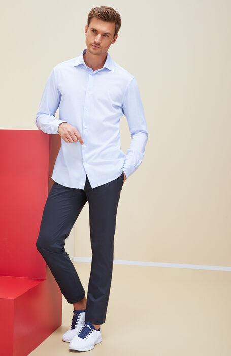Blue slim-fit trousers in Techno Gab technical fabric , Urban Traveler | Slowear
