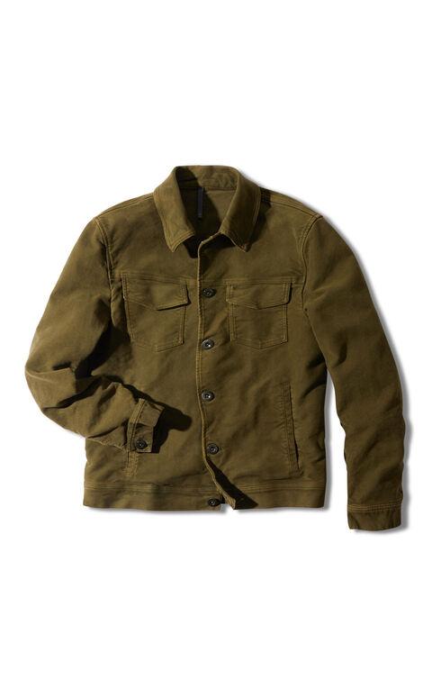 Semi-lined Moleskin blouse , Montedoro | Slowear