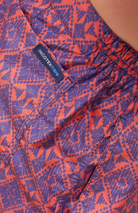 Swimsuit in technical fabric with print , Incotex Mare | Slowear