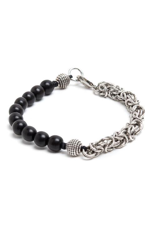 Byzantine Chain + Ebony Beads Bracelet , Officina Slowear   Slowear